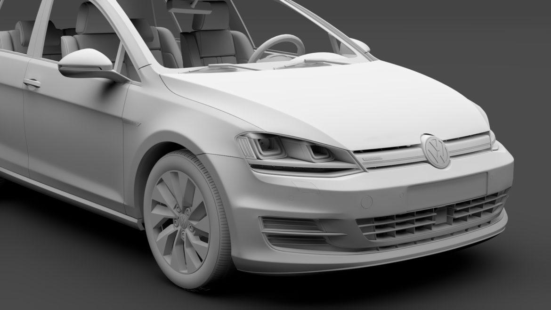 volkswagen golf 7 tgi bluemotion 5d 2016 3d model 3ds max fbx c4d lwo ma mb hrc xsi obj 313522
