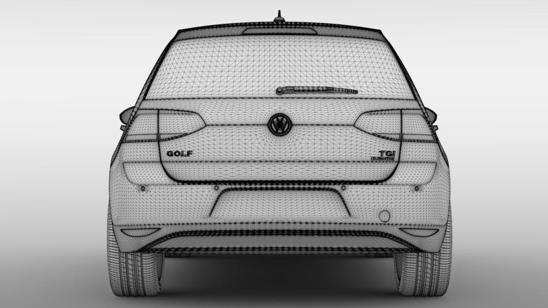 volkswagen golf 7 tgi bluemotion 5d 2016 3d model 3ds max fbx c4d lwo ma mb hrc xsi obj 313524