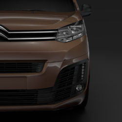 citroen dispatch m 2019 3d model 3ds max fbx c4d lwo ma mb hrc xsi obj 313564