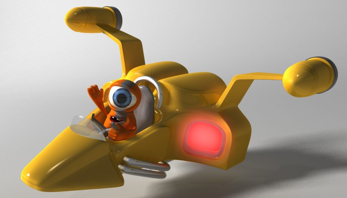 orange alien rigged 3d model 3ds max fbx  obj 313730