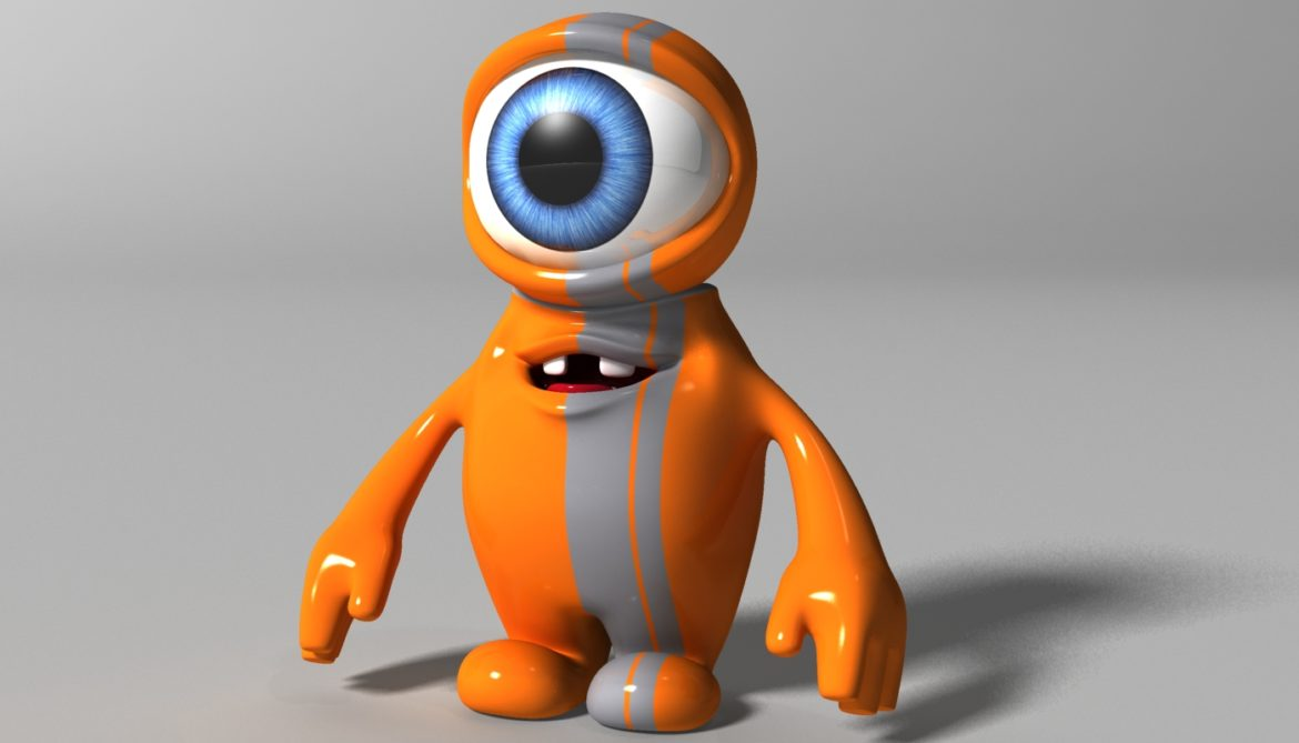 orange alien rigged 3d model 3ds max fbx  obj 313731