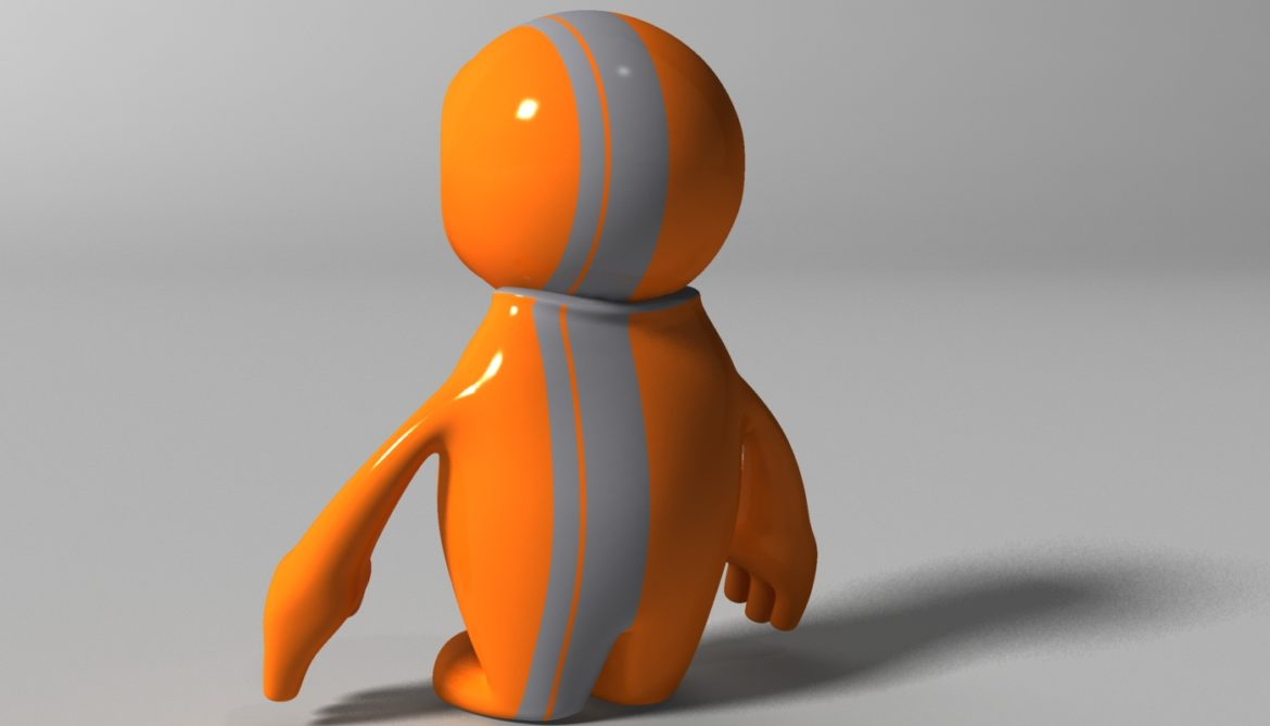 orange alien rigged 3d model 3ds max fbx  obj 313733