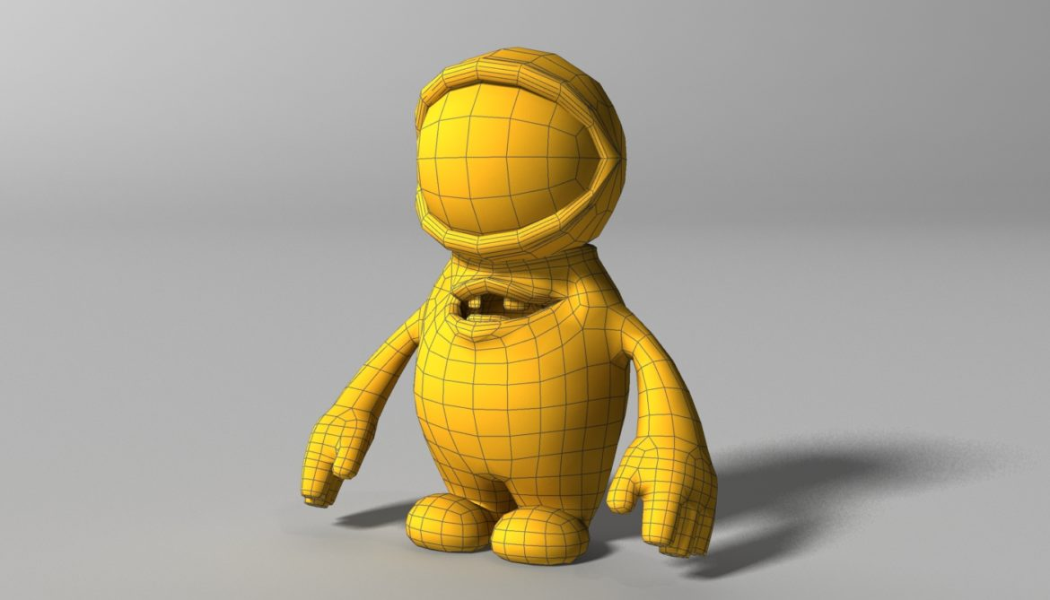 orange alien rigged 3d model 3ds max fbx  obj 313735
