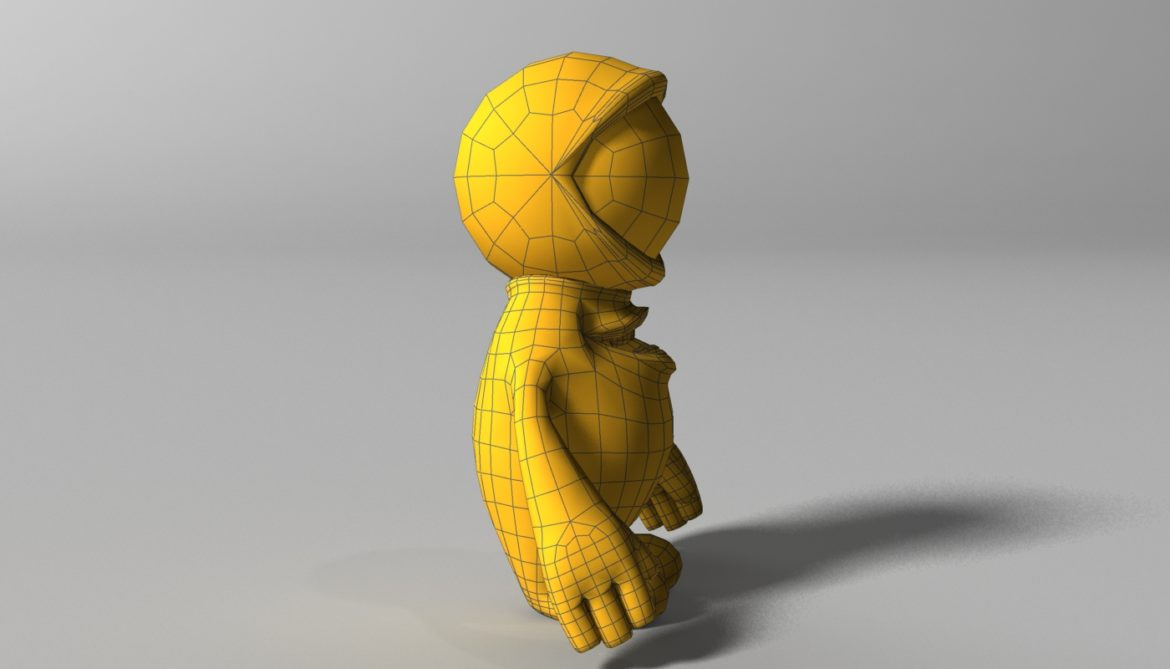 orange alien rigged 3d model 3ds max fbx  obj 313736