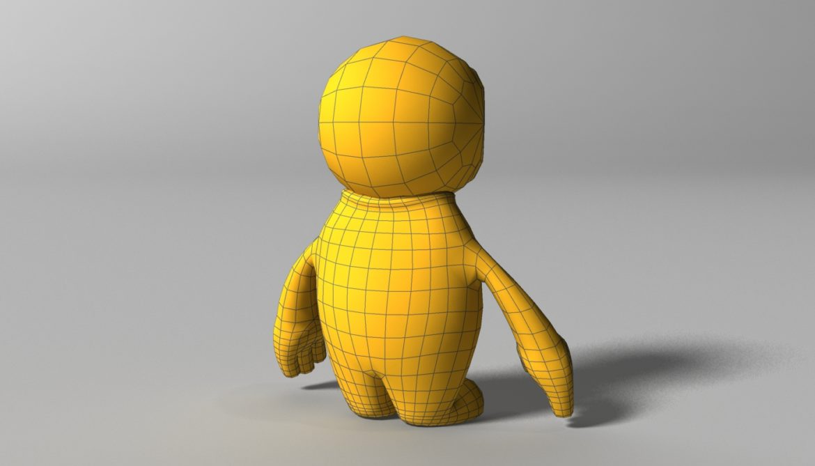orange alien rigged 3d model 3ds max fbx  obj 313737