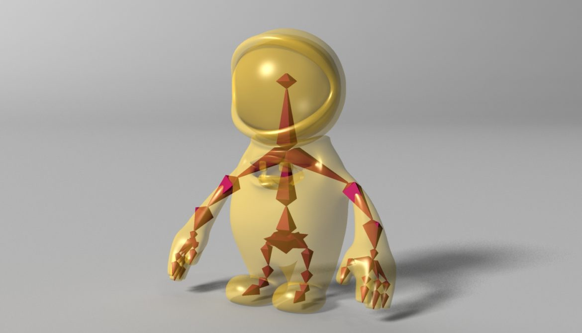 orange alien rigged 3d model 3ds max fbx  obj 313738