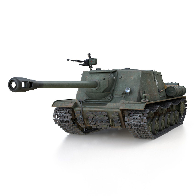 isu-122s – 16 – soviet assault gun 3d model 3ds fbx c4d lwo obj 313750