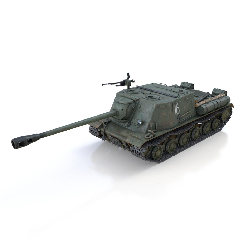 isu-122s – 16 – soviet assault gun 3d model 3ds fbx c4d lwo obj 313751
