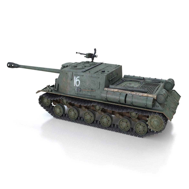 isu-122s – 16 – soviet assault gun 3d model 3ds fbx c4d lwo obj 313752