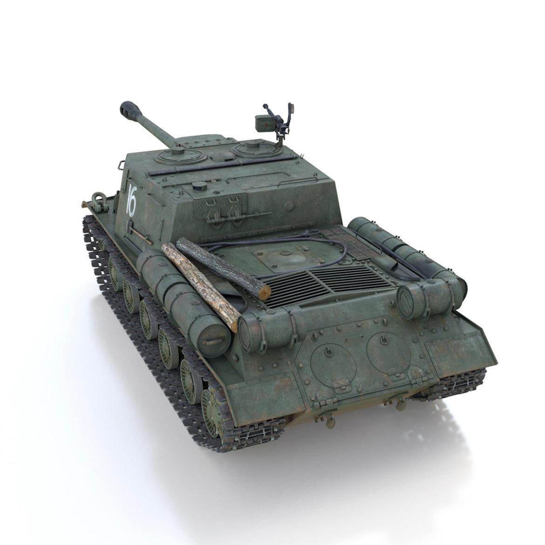 isu-122s – 16 – soviet assault gun 3d model 3ds fbx c4d lwo obj 313753