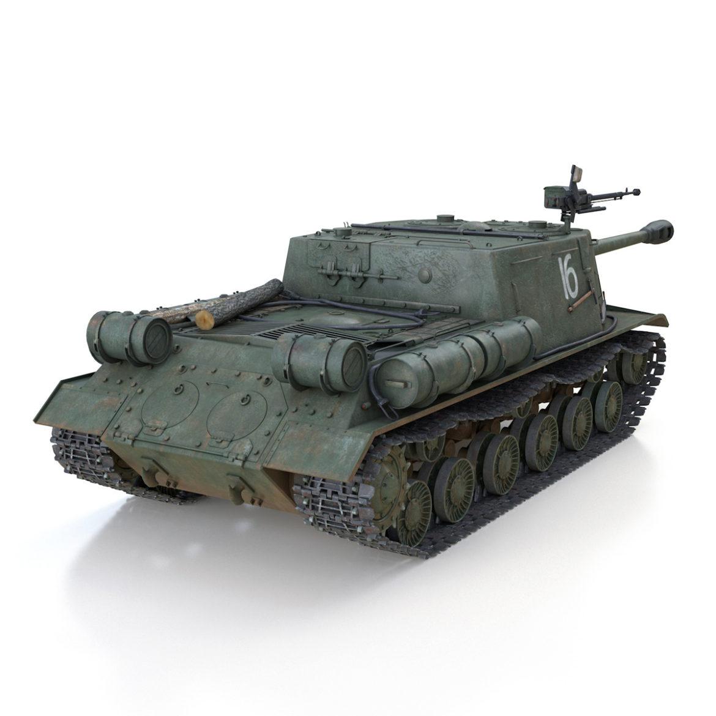 isu-122s – 16 – soviet assault gun 3d model 3ds fbx c4d lwo obj 313754
