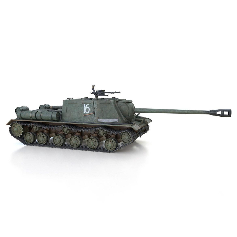 isu-122s – 16 – soviet assault gun 3d model 3ds fbx c4d lwo obj 313755