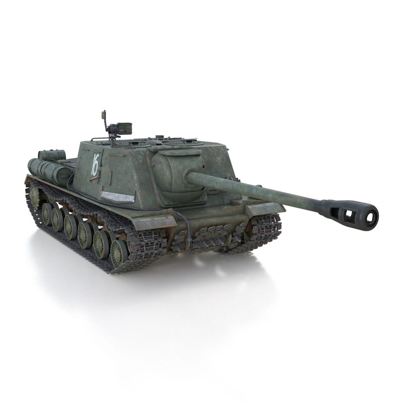 isu-122s – 16 – soviet assault gun 3d model 3ds fbx c4d lwo obj 313756