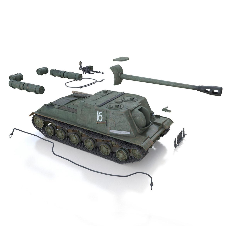 isu-122s – 16 – soviet assault gun 3d model 3ds fbx c4d lwo obj 313757