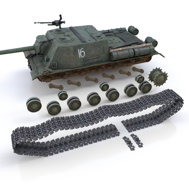 isu-122s – 16 – soviet assault gun 3d model 3ds fbx c4d lwo obj 313758