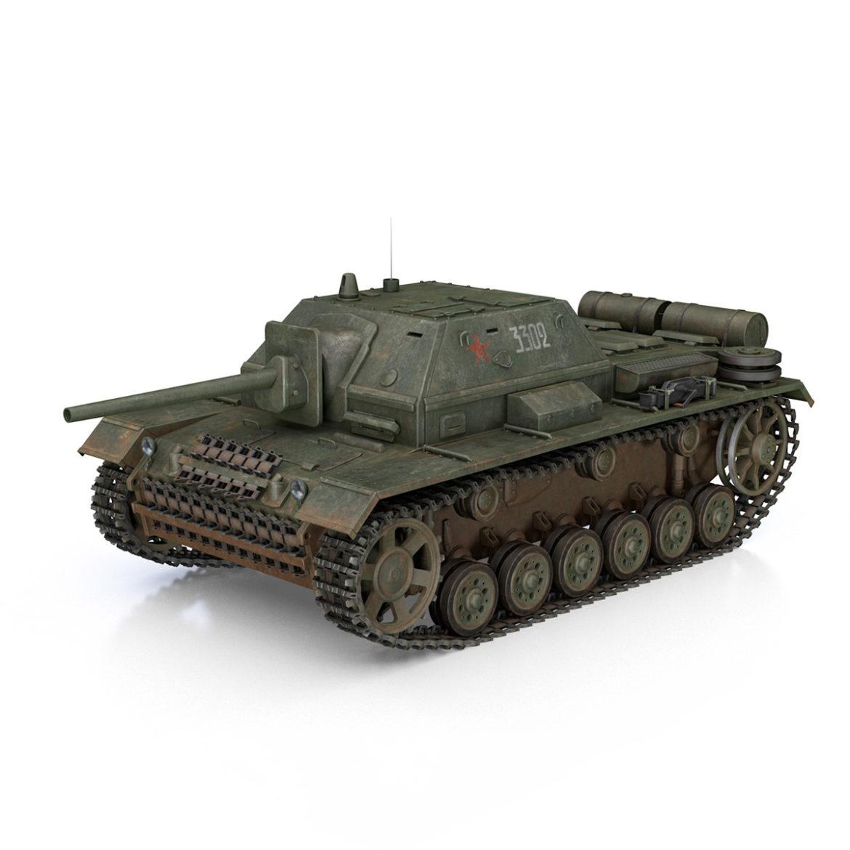 su-76i - зөвлөлтийн довтолгооны буу - 3302 3d загвар 3ds fbx c4d lwo obj 313770