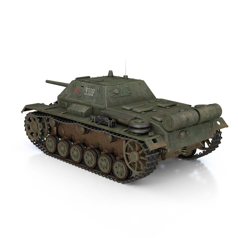 su-76i - зөвлөлтийн довтолгооны буу - 3302 3d загвар 3ds fbx c4d lwo obj 313772