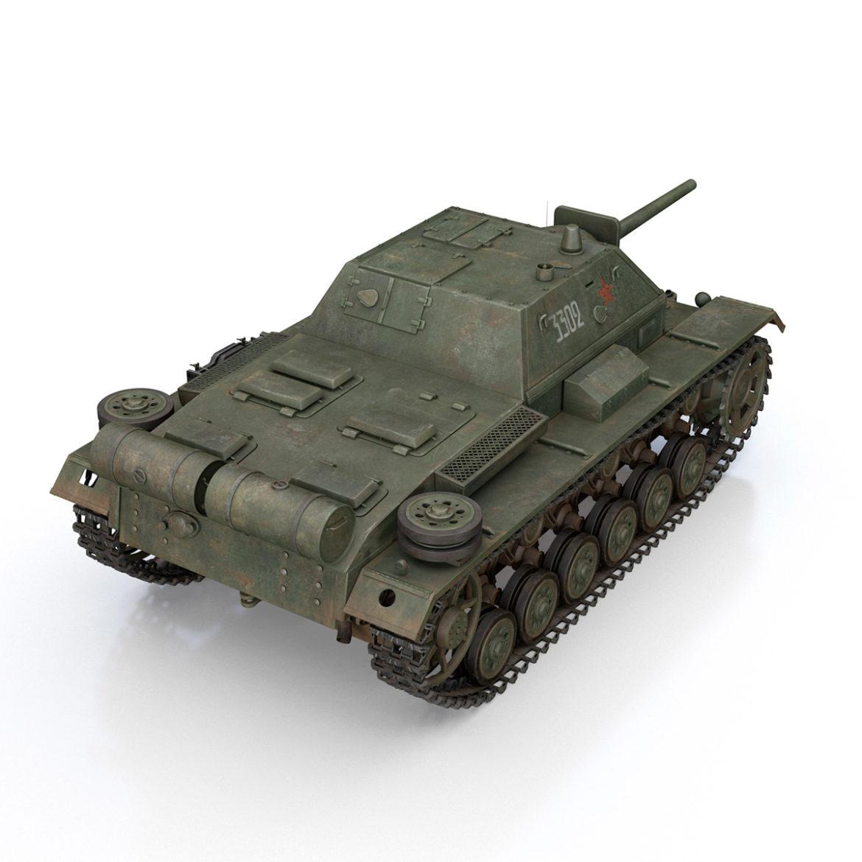 su-76i - зөвлөлтийн довтолгооны буу - 3302 3d загвар 3ds fbx c4d lwo obj 313773