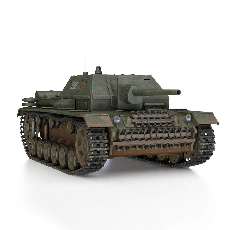 su-76i - зөвлөлтийн довтолгооны буу - 3302 3d загвар 3ds fbx c4d lwo obj 313775