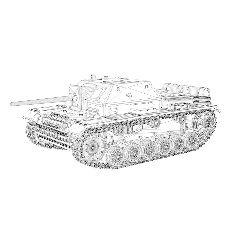 su-76i - зөвлөлтийн довтолгооны буу - 3302 3d загвар 3ds fbx c4d lwo obj 313778