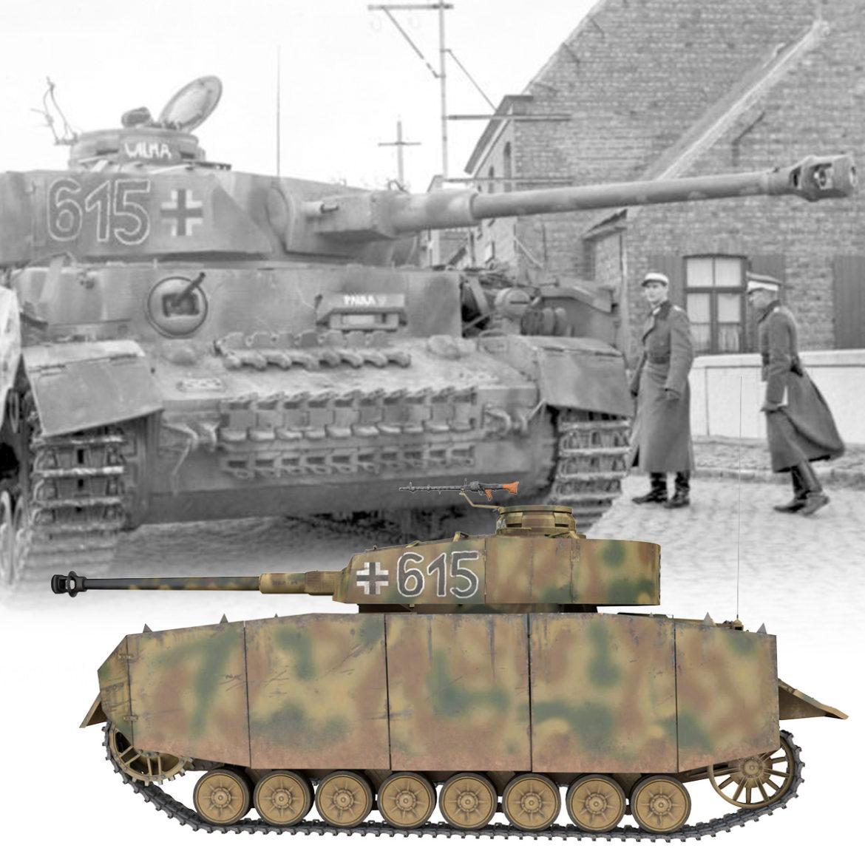 pzkpfw iv – panzer 4 – ausf.h – 615 3d model 3ds fbx c4d lwo obj 313787