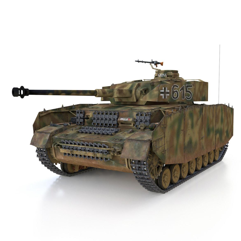 pzkpfw iv – panzer 4 – ausf.h – 615 3d model 3ds fbx c4d lwo obj 313788