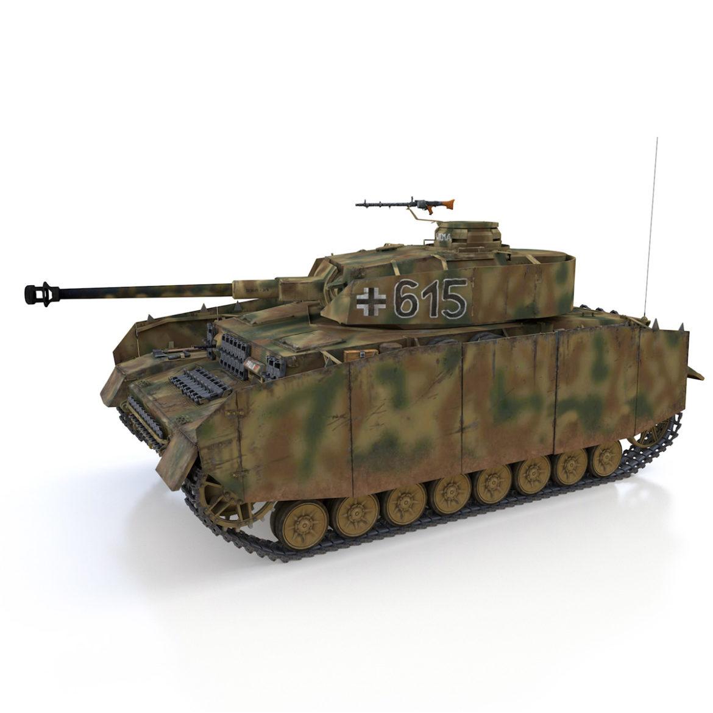 pzkpfw iv – panzer 4 – ausf.h – 615 3d model 3ds fbx c4d lwo obj 313789
