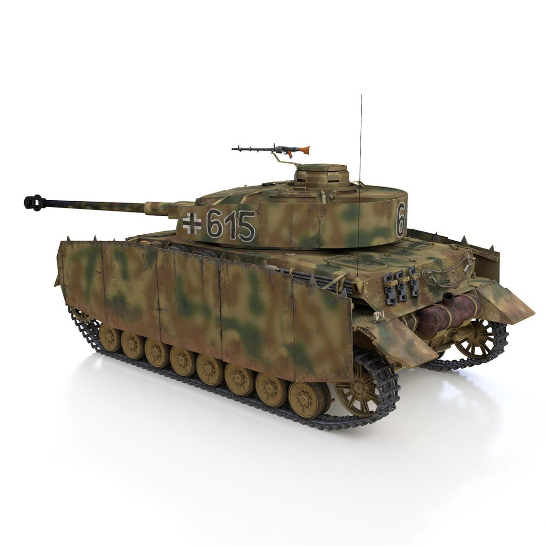 pzkpfw iv – panzer 4 – ausf.h – 615 3d model 3ds fbx c4d lwo obj 313790