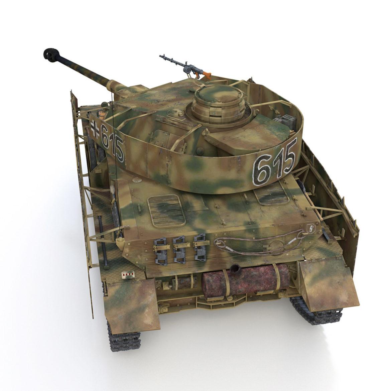 pzkpfw iv – panzer 4 – ausf.h – 615 3d model 3ds fbx c4d lwo obj 313791