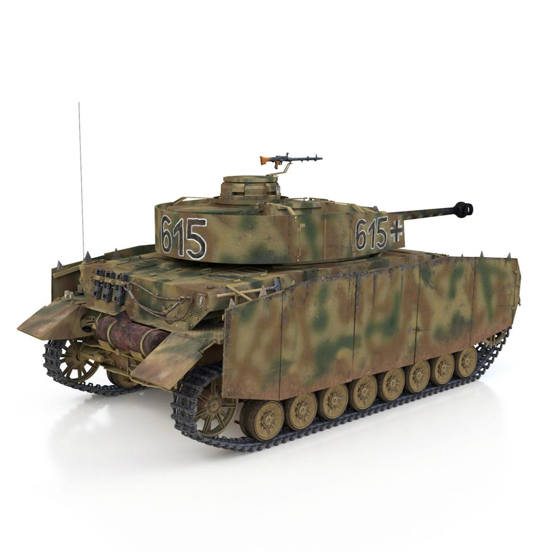 pzkpfw iv – panzer 4 – ausf.h – 615 3d model 3ds fbx c4d lwo obj 313792