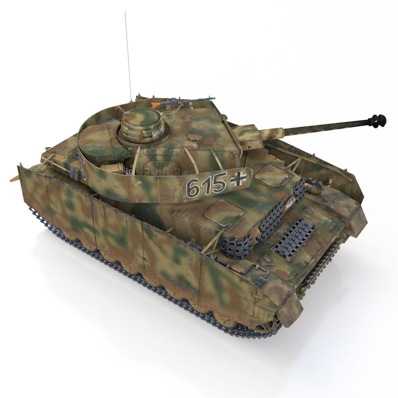 pzkpfw iv – panzer 4 – ausf.h – 615 3d model 3ds fbx c4d lwo obj 313793