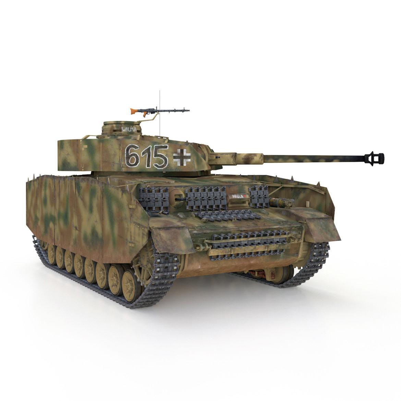 pzkpfw iv – panzer 4 – ausf.h – 615 3d model 3ds fbx c4d lwo obj 313794