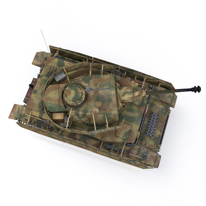 pzkpfw iv – panzer 4 – ausf.h – 615 3d model 3ds fbx c4d lwo obj 313795