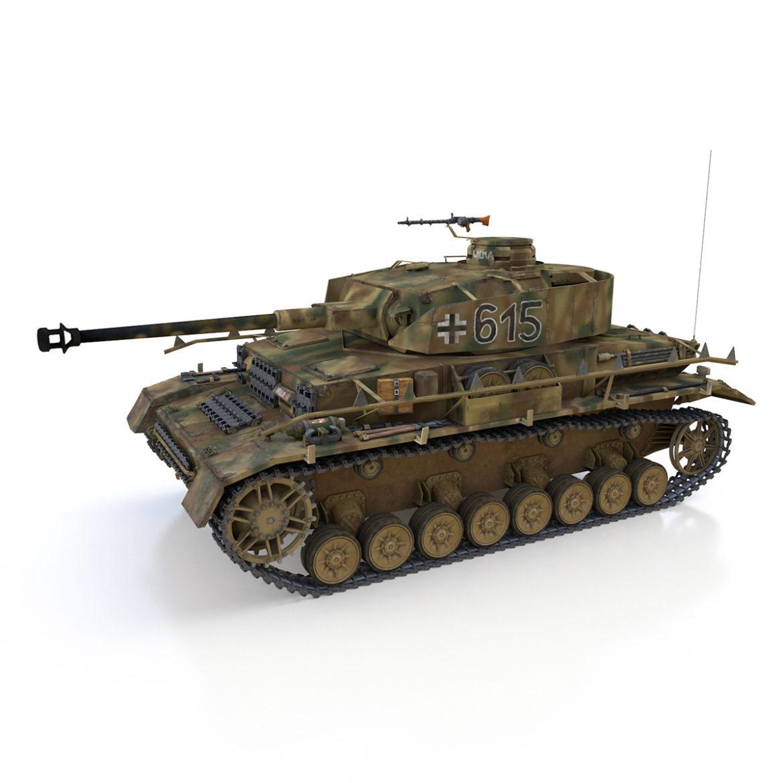 pzkpfw iv – panzer 4 – ausf.h – 615 3d model 3ds fbx c4d lwo obj 313796