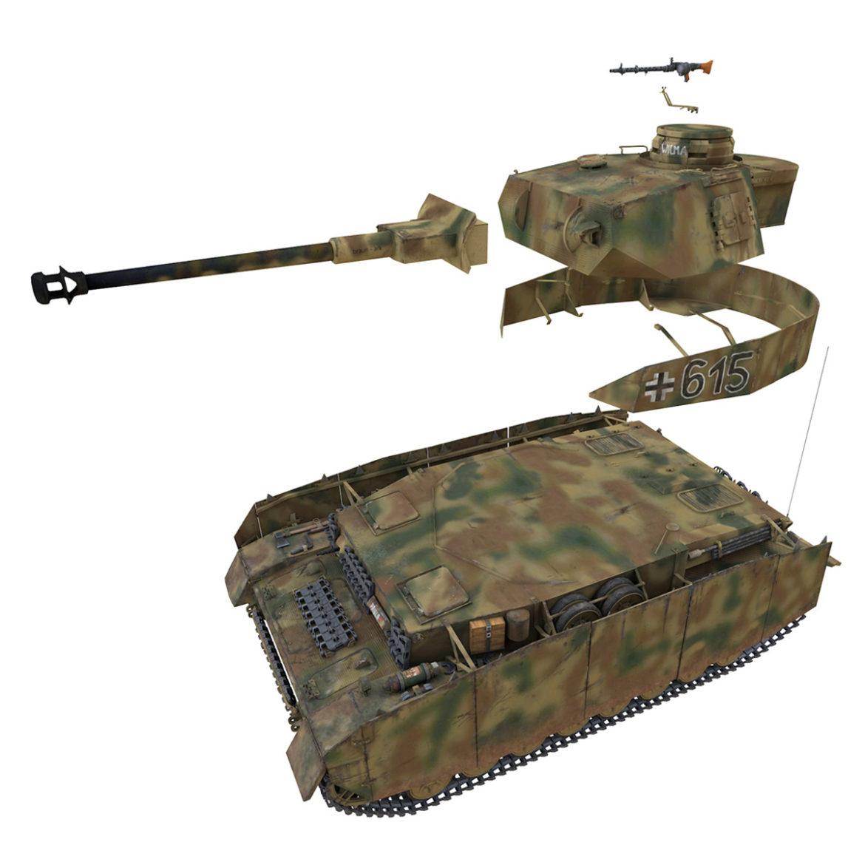 pzkpfw iv – panzer 4 – ausf.h – 615 3d model 3ds fbx c4d lwo obj 313797