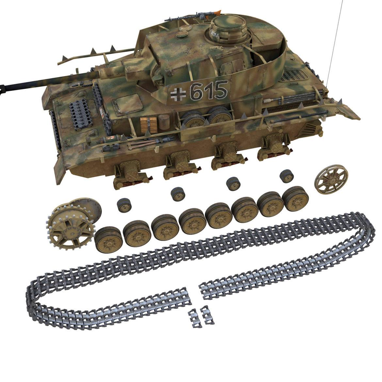 pzkpfw iv – panzer 4 – ausf.h – 615 3d model 3ds fbx c4d lwo obj 313798