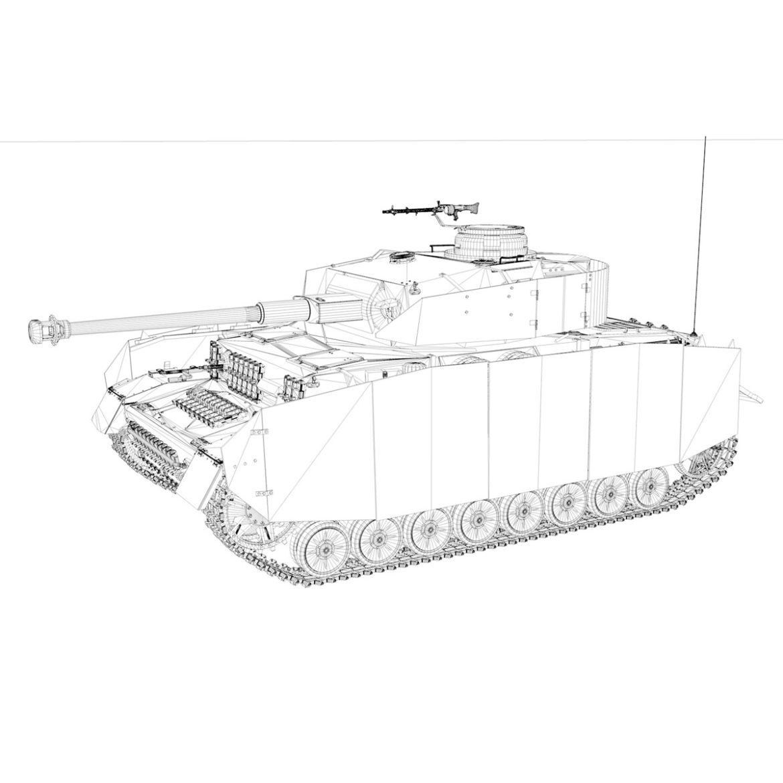 pzkpfw iv – panzer 4 – ausf.h – 615 3d model 3ds fbx c4d lwo obj 313799