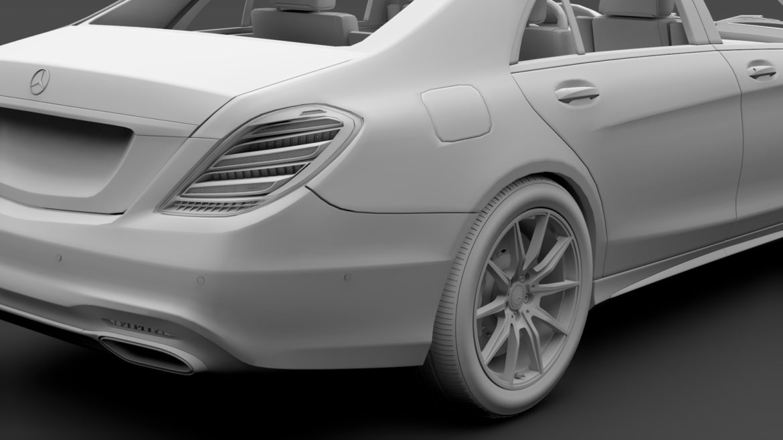mercedes benz s 350 lang amg line v222 2018 3d model 3ds max fbx c4d lwo ma mb hrc xsi obj 314004