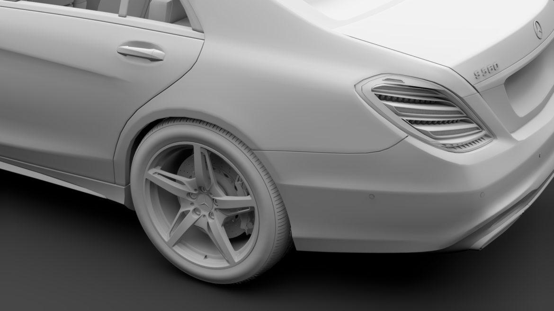 mercedes benz s 560 lang 4matic amg line w222 2018 model 3d 3ds max fbx c4d lwo ma mb hrc xsi obj 314119
