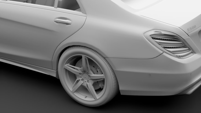mercedes benz s 560 lang amg line v222 2018 3d model 3ds max fbx c4d lwo ma mb hrc xsi obj 314195