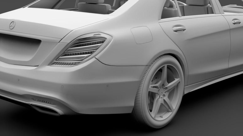 mercedes benz s 560 lang amg line v222 2018 3d model 3ds max fbx c4d lwo ma mb hrc xsi obj 314197