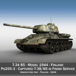 t-34-85 – 212 – finish army 3d model 3ds fbx c4d lwo obj 314635