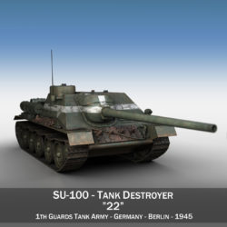 su-100 - 22 - padomju tanku iznīcinātājs 3d modelis 3ds fbx c4d lwo obj 314674