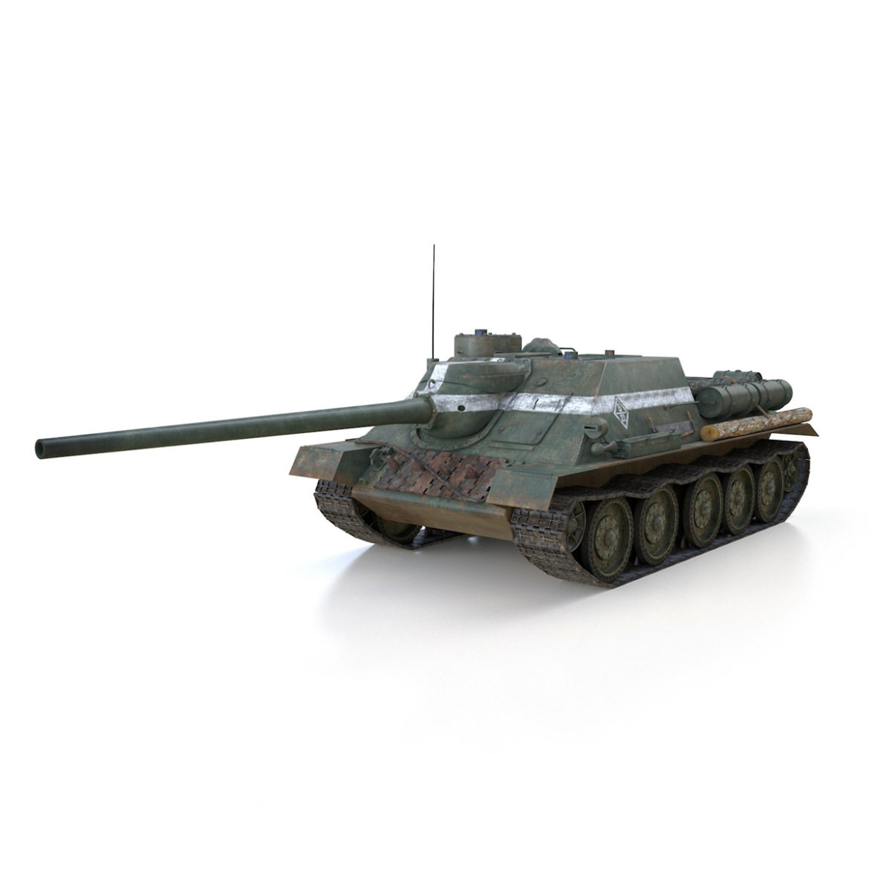 su-100 – 22 – soviet tank destroyer 3d model 3ds fbx c4d lwo obj 314675