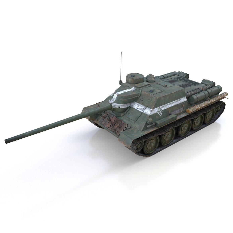 su-100 – 22 – soviet tank destroyer 3d model 3ds fbx c4d lwo obj 314676