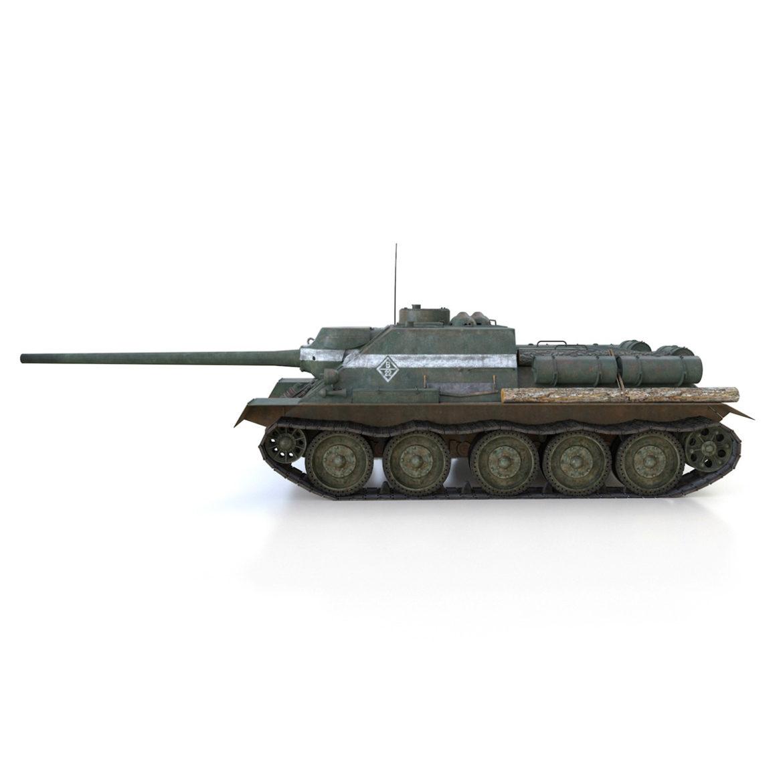 su-100 – 22 – soviet tank destroyer 3d model 3ds fbx c4d lwo obj 314677