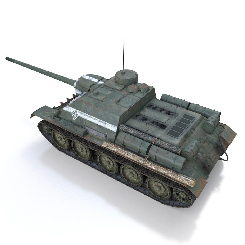 su-100 – 22 – soviet tank destroyer 3d model 3ds fbx c4d lwo obj 314678