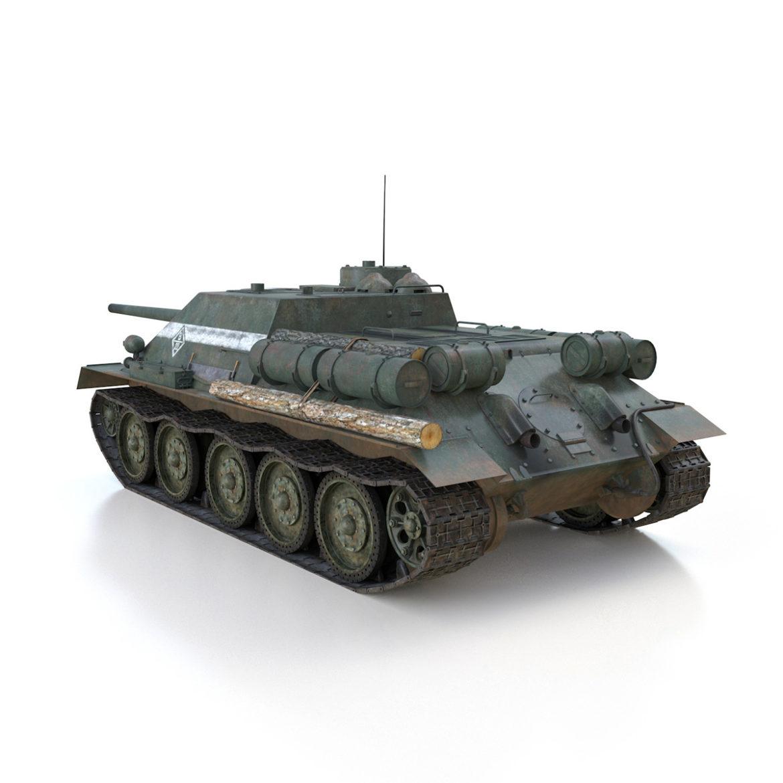 su-100 – 22 – soviet tank destroyer 3d model 3ds fbx c4d lwo obj 314679