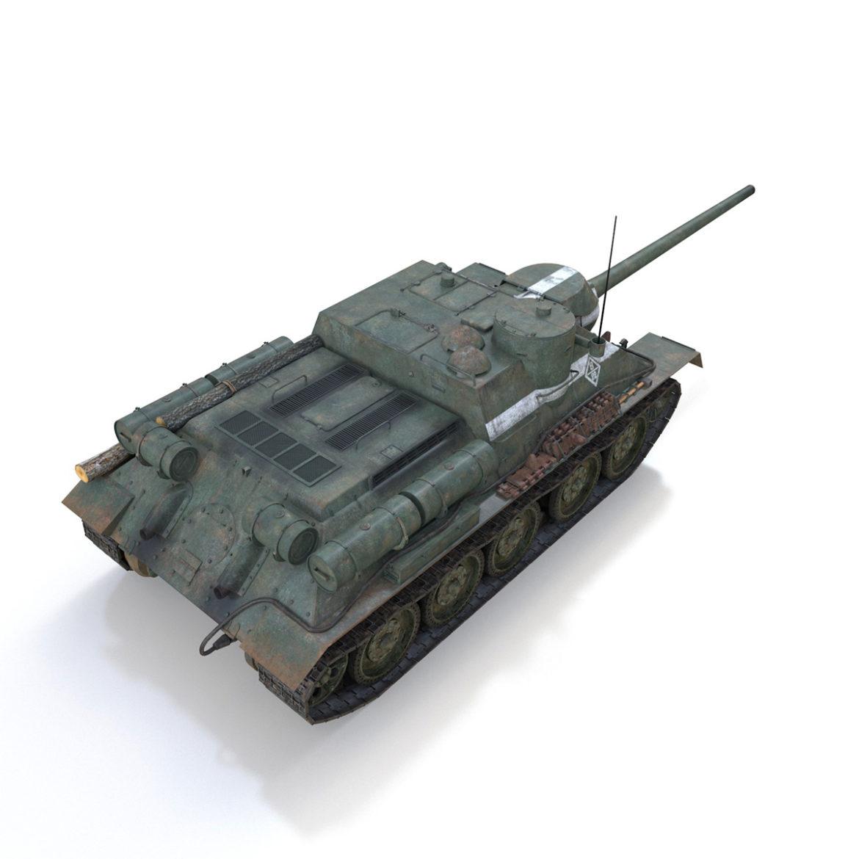 su-100 – 22 – soviet tank destroyer 3d model 3ds fbx c4d lwo obj 314680