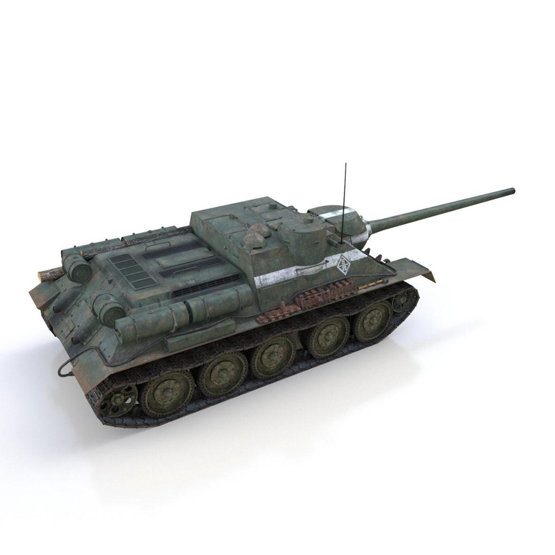 su-100 – 22 – soviet tank destroyer 3d model 3ds fbx c4d lwo obj 314681